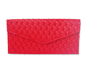 Red Leather Envelope..