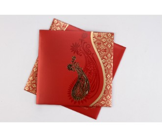 Red wedding invite wi