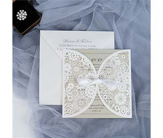 Romantic white lace c..