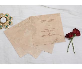 Royal beige colored wedding invite
