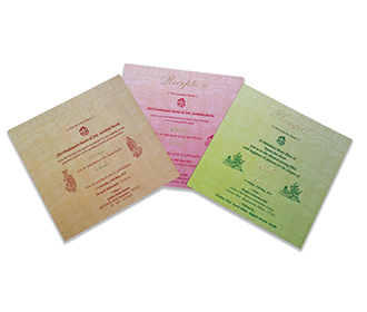 Royal Indian theme box invitation in cream color