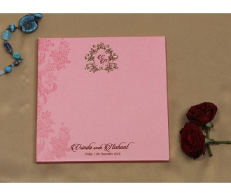 Royal Pink wedding invite