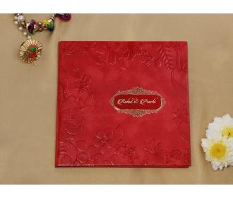 Royal Red wedding invite