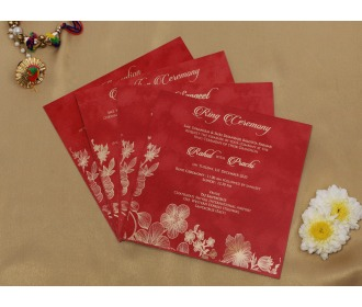 Royal Red wedding invite
