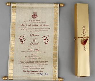 Scroll style wedding