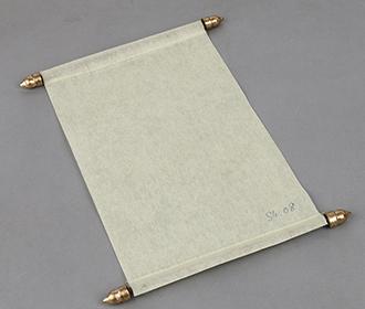 Scroll style wedding invite in cream with square box