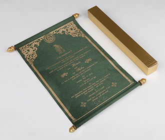 Scroll wedding card i..