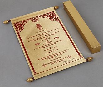 Scroll wedding card i