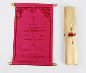 Scroll wedding card i