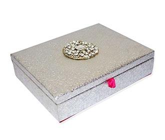 Silver broach Jewellery Box -