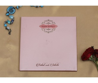 Simple and sober pink wedding invite