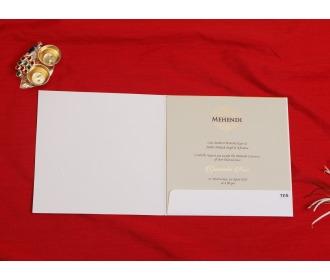 Simple Floral cream based wedding invite