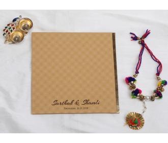 Simple stylish brown wedding invite
