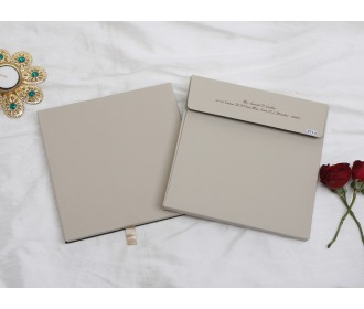 Floral Laser cut wedding invitations in dusty brown colour