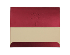 Traditional Ganesh Wedding Cards in Royal Crimson Colour