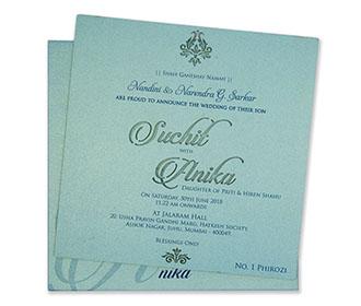 Turquoise blue invite