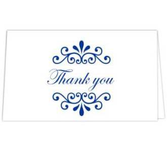 Thank you card  in Wh