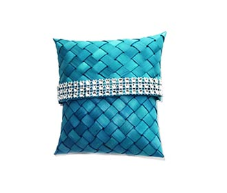 Weaved Blue Gift Pouch