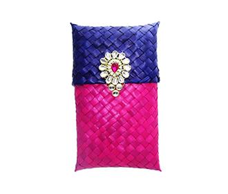 Weaved Purple & Blue Gift Pouch -