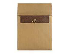 Wedding Card Box Elegant Golden and Brown Colour