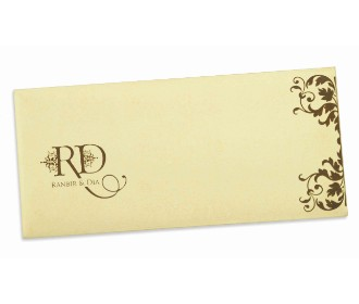 Wedding Invitation in Ivory with multicolour inserts