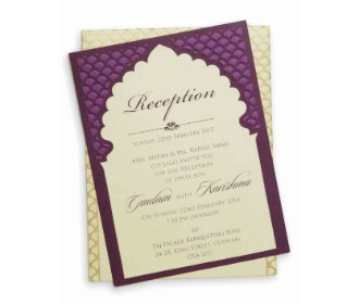 Royal invitation card with a beautiful purple touch