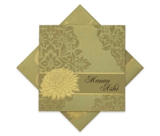Traditional invite with Beautiful floral print