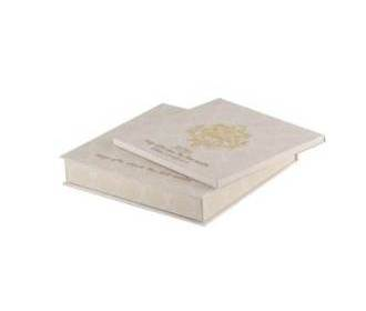 Wedding Card Box in Elegant White and Golden Colour