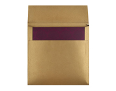 Wedding Card Box in Purple and Golden Colour
