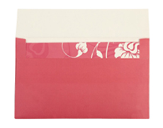 Wedding Card Box in White & Pink Floral Design