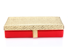 Wedding Cash Box in Red and Golden