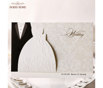 Western-style Groom & Bride Wedding Invitations Cards -