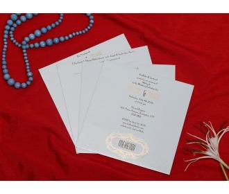 White Colored Ganesha wedding invite