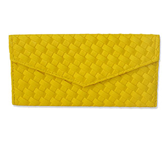 Yellow Leather Envelope -